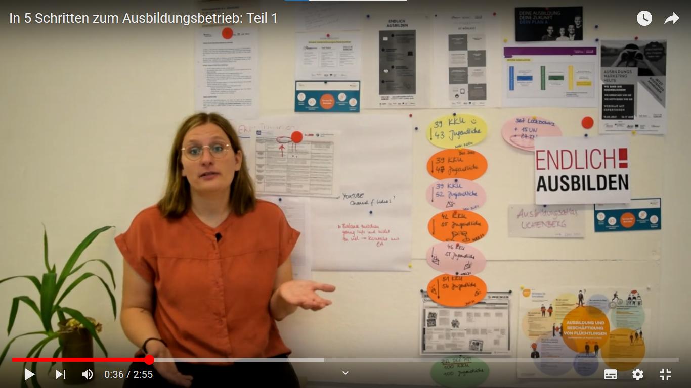 """Read more about the article Unsere Youtube-Serie """"In 5 Schritten zum Ausbildungsbetrieb"""" geht online!"""